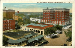 Princess Martha Hotel, post Office and Suwannee Hotel