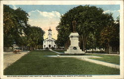 Soldiers Monument and Baptist Church, The Common