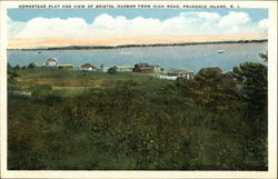 Homestead Plat and View of Bristol Harbor from High Road
