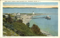 Sand Point Landing from Sawyer's Hill