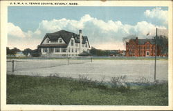 U. S. M. A. A. Tennis Courts Postcard