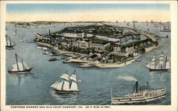 Fortress Monroe and Old Point Comfort Postcard