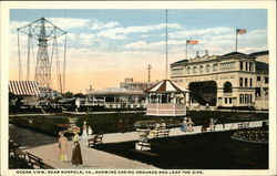 Ocean View, Near Norfolk, Va, Showing Casino and Leap The Dips Postcard