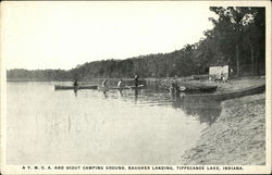 A Y.M.C.A. and Scout camping ground, Baugher Landing, Tippecanoe Lake, Indiana