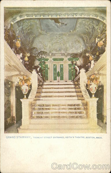Grand Stairway, Tremont Street Entrance, Keith's Theater Boston Massachusetts