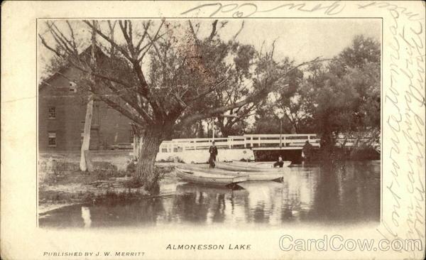 Almonesson Lake New Jersey Postcard