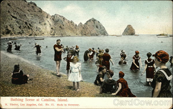 Bathing Scene Santa Catalina Island California