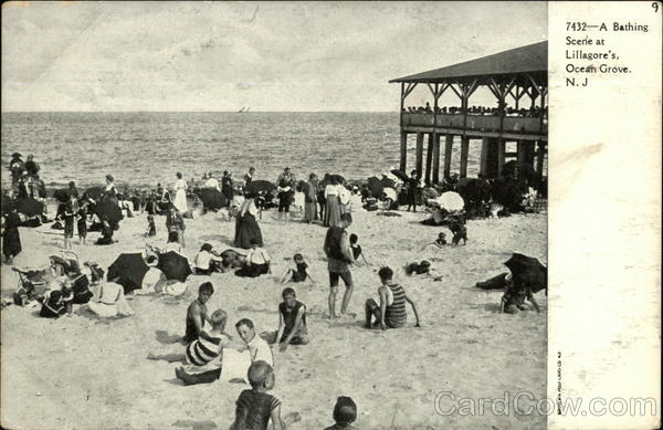 A Bathing Scene at Lillagore's Ocean Grove New Jersey