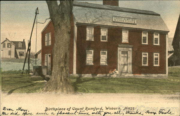 Birthplace of Count Rumford Woburn Massachusetts