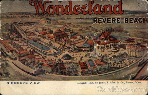 Wonderland Revere Beach Birdseye View Massachusetts
