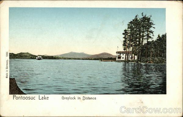 Pontoosuc Lake Greylock in Distance Pittsfield Massachusetts