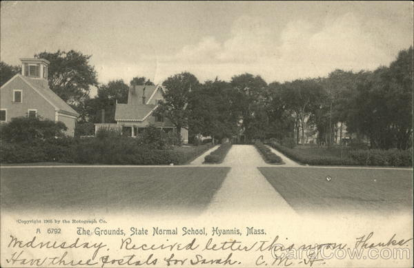 A 6792 The Grounds, State Normal School Hyannis Massachusetts