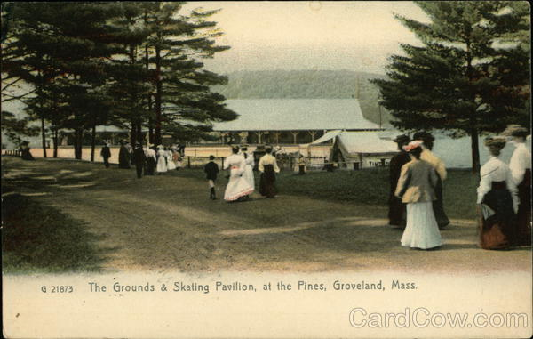 The Grounds and Skating Pavilion at the Pines Groveland Massachusetts