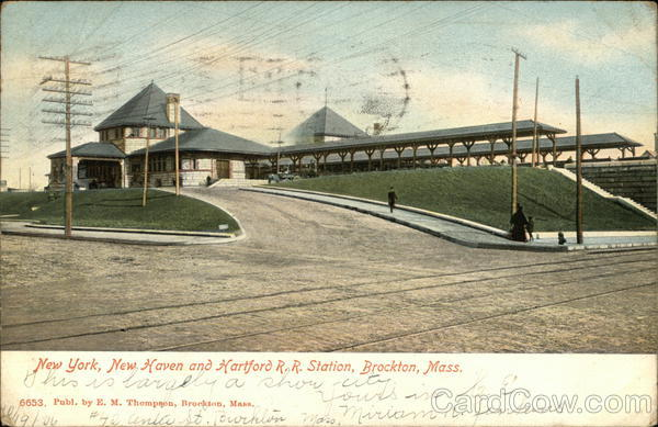 New York, New Haven and Hartford R.R. Station Brockton Massachusetts
