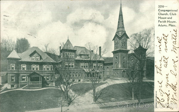 3250-Congregational Church, Club House and Parish House Adams Massachusetts