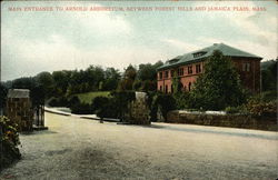 Main Entrance to Arnold Arboretum Between Forest Hills and Jamaica Plan