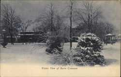 Winter View of Barre Common
