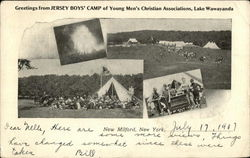 Greetings from Jersey Boy's Camp of Young Men's Christian Associations, Lake Wawayanda