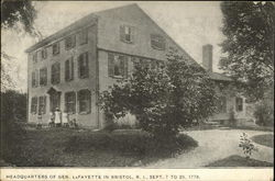 Headquarters of Gen. LaFayette - Sept. 7 to 20, 1778
