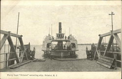 Ferry Boat Bristol Entering Slip