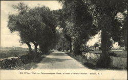 Old Willow Walk on Pappoosequaw Road at Head of Bristol Harbor