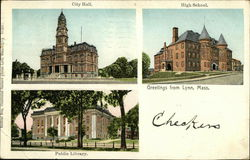 City Hall, Public Library, High School