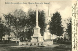 Soldiers Monument (Congreg. Church in the Distance)