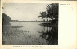 A Glimpse of the Lake - Lake Nipmuc Park