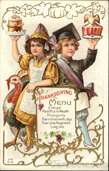 Thanksgiving Menu Children