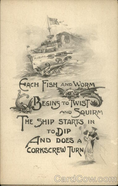Each Fish and Worm Begins to Twist and Squirm ... Boats, Ships