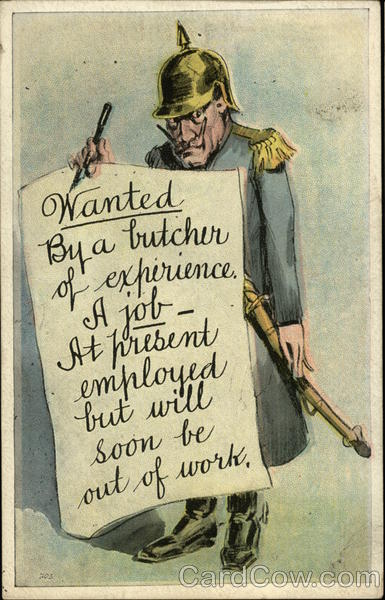 Job Advertisement World War I