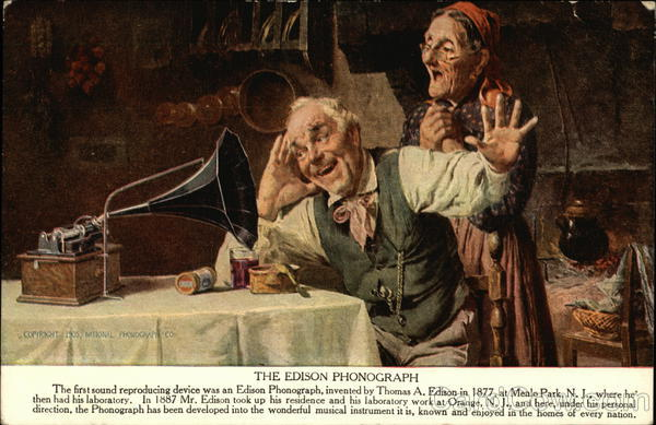 The Edison Phonograph Advertising