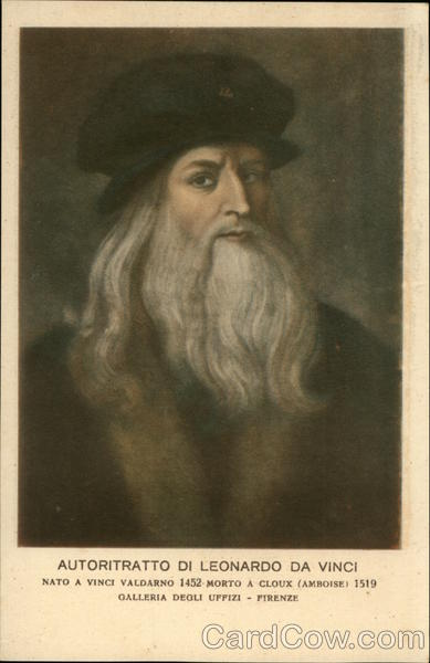 Portrait of Leonardo da Vinci Art