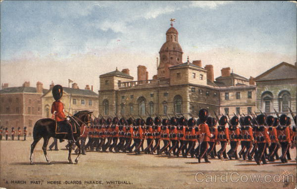A March Past, Horse Guards Parade, Whitehall Military
