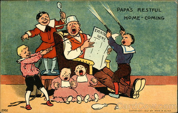 Papa's Restful Home-Coming Comic, Funny