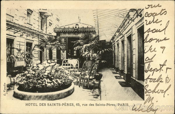 Hotel des Saints-Peres, 65, rue des Saints-Peres, Paris