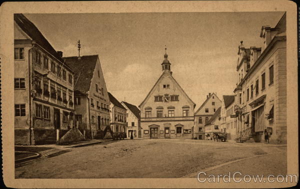 Town Square in Krumbach-Schwaben  Bavaria Germany