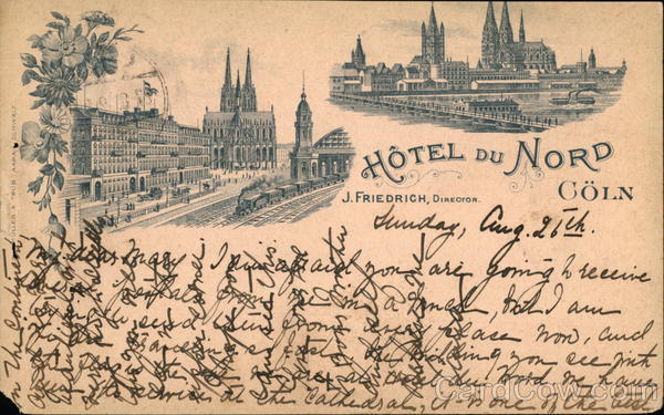 Hotel du Nord Coeln, J. Friedrich, Director Travel