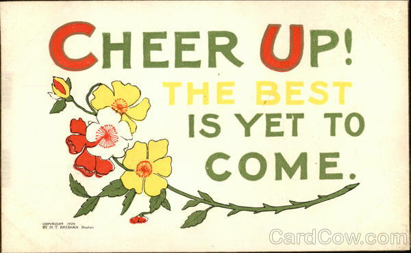 Cheer Up card with Flowers Greetings