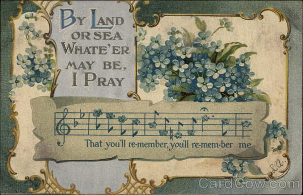 Forget Me Nots with Musical Tune Greetings