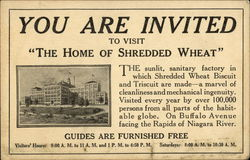 Invitation to Visit the Shredded Wheat Biscuit and Triscuit Factory