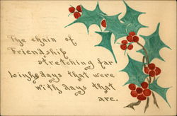 Hand Drawn aand Painted Holly and Words