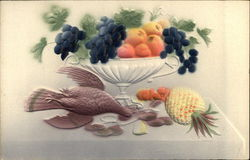 Vase of Fruit and a Bird