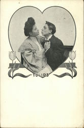 Tulips - Man trying to Kiss Woman