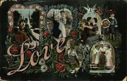 Couple in Various Scenes Kissing and Embracing