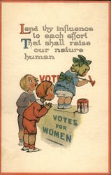 "Women's Suffrage - Girl Painting ""Votes for Women"" on Window"