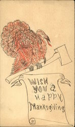 Turkey with Axe- Wish You a Happy Thanksgiving