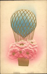 Flowers in a Balloon Postcard