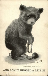 Bear in Handcuffs with Ball and Chain
