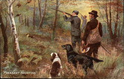 Men with Dogs Shooting Pheasant